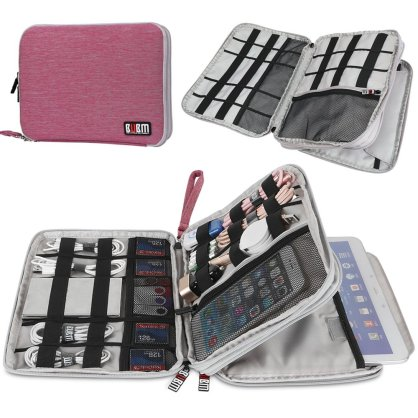 BUBM cable organiser bag - pink