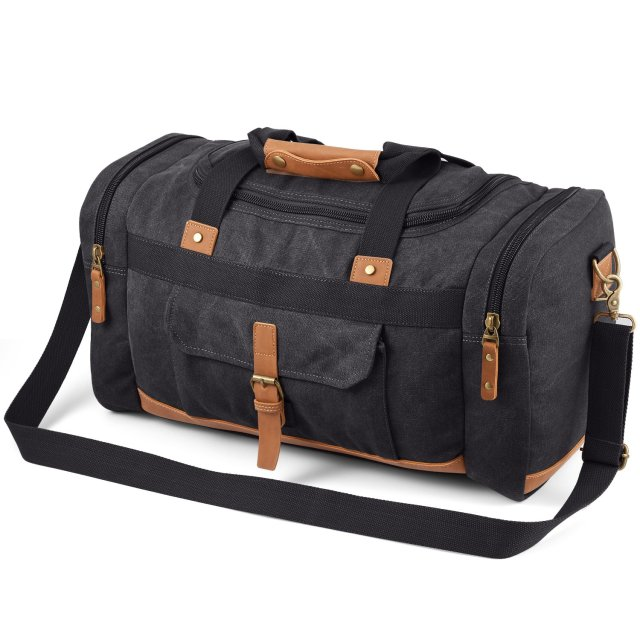 Plambag 50L Canvas Travel Duffel Shoulder Bag
