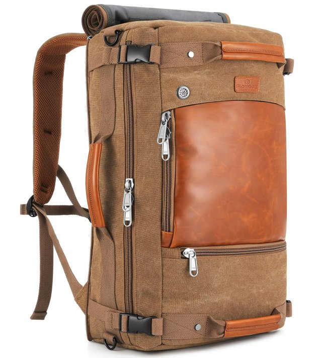 Plambag Canvas Travel Duffel Retro Backpack