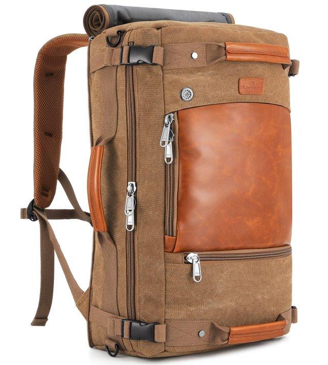 Plambag Canvas Travel Duffel Retro Backpack