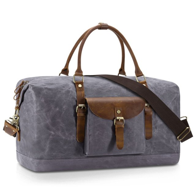 Plambag Oversized Overnight Duffel Travel Bag Water Repellent Canvas