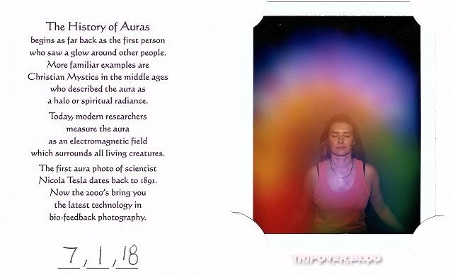 Danae's aura photo, Hobart Psychic Expo
