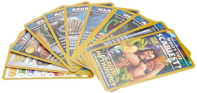 Greek Mythology Card Travel Game inside