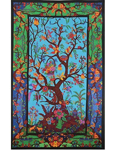 Tree of Life Indian Wallhanging-Bedspread-Tablecloth