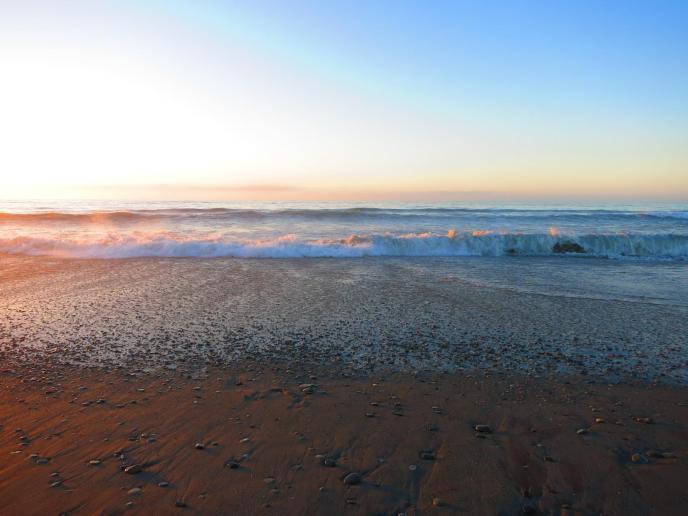 Sonnenuntergang am Strand von Hokitika