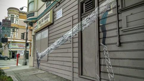 Street art in Lower Haight.