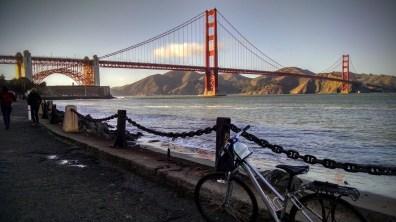 Golden Gate Bridge from below welcome center on