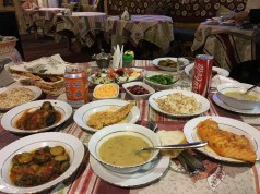 Dinner for two at Homeros Pension in Selcuk, Turkey.