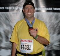My first full marathon bling.
