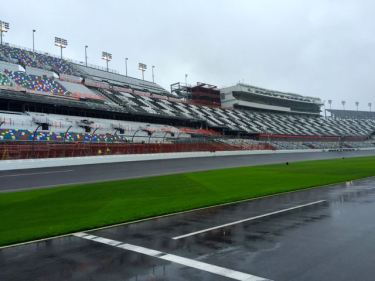 A not so dry day at the Daytona Speedway.