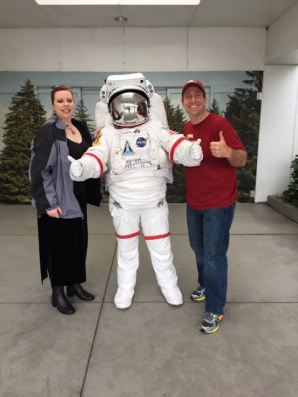 Lindy and I getting our NASA on.