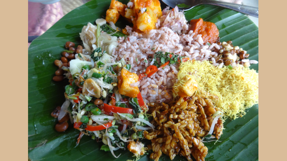 Nasi Campur in Yellow Flower Cafe Ubud