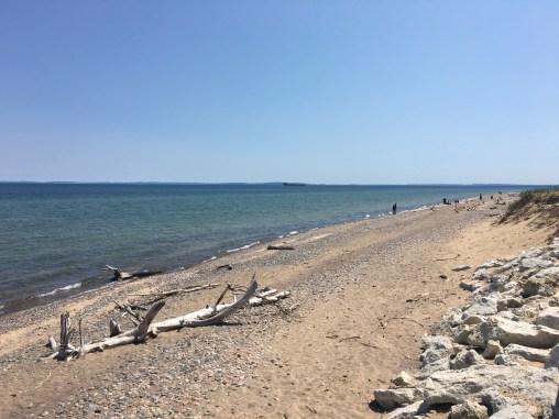 Whitefish Point shore