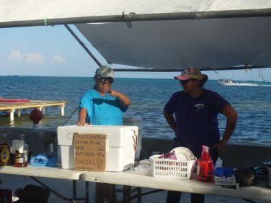 Coco Loco's served up some great snacks on the beach!