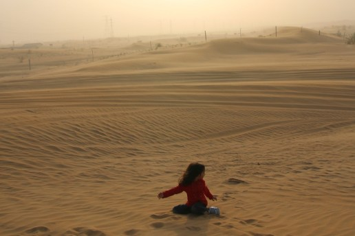 Kids enjoying Desert Safari in Dubai