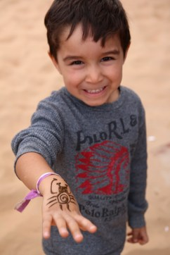 Henna art at the desert safari, Dubai
