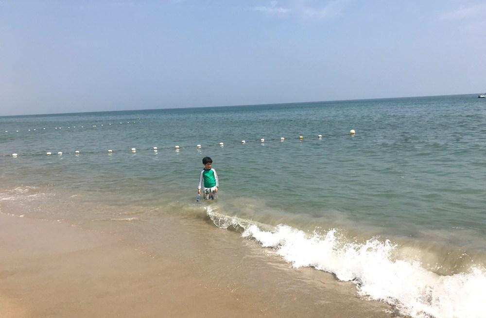 Kids enjoying the beach in Hoi An