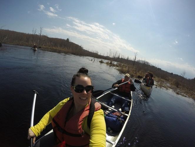 Kinsey canoeing