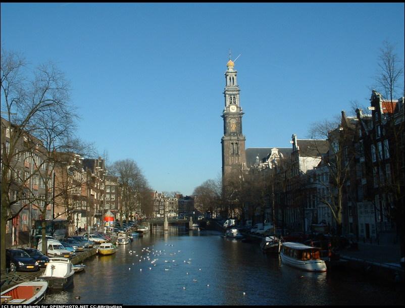Canais de Amsterdam, por © Scott Roberts