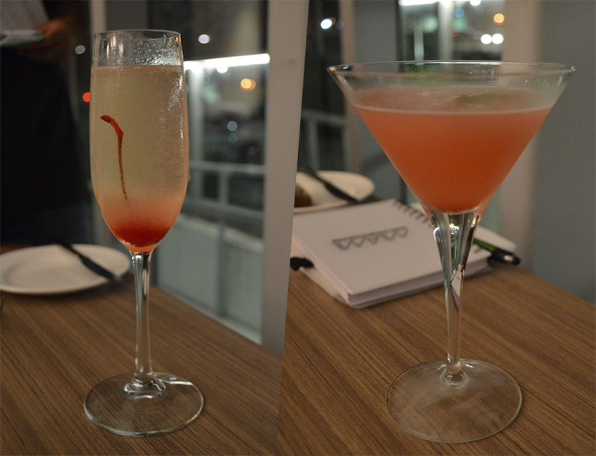 Miami Drinks Gin Gin Prosecco e Strawberry Pisco Sour