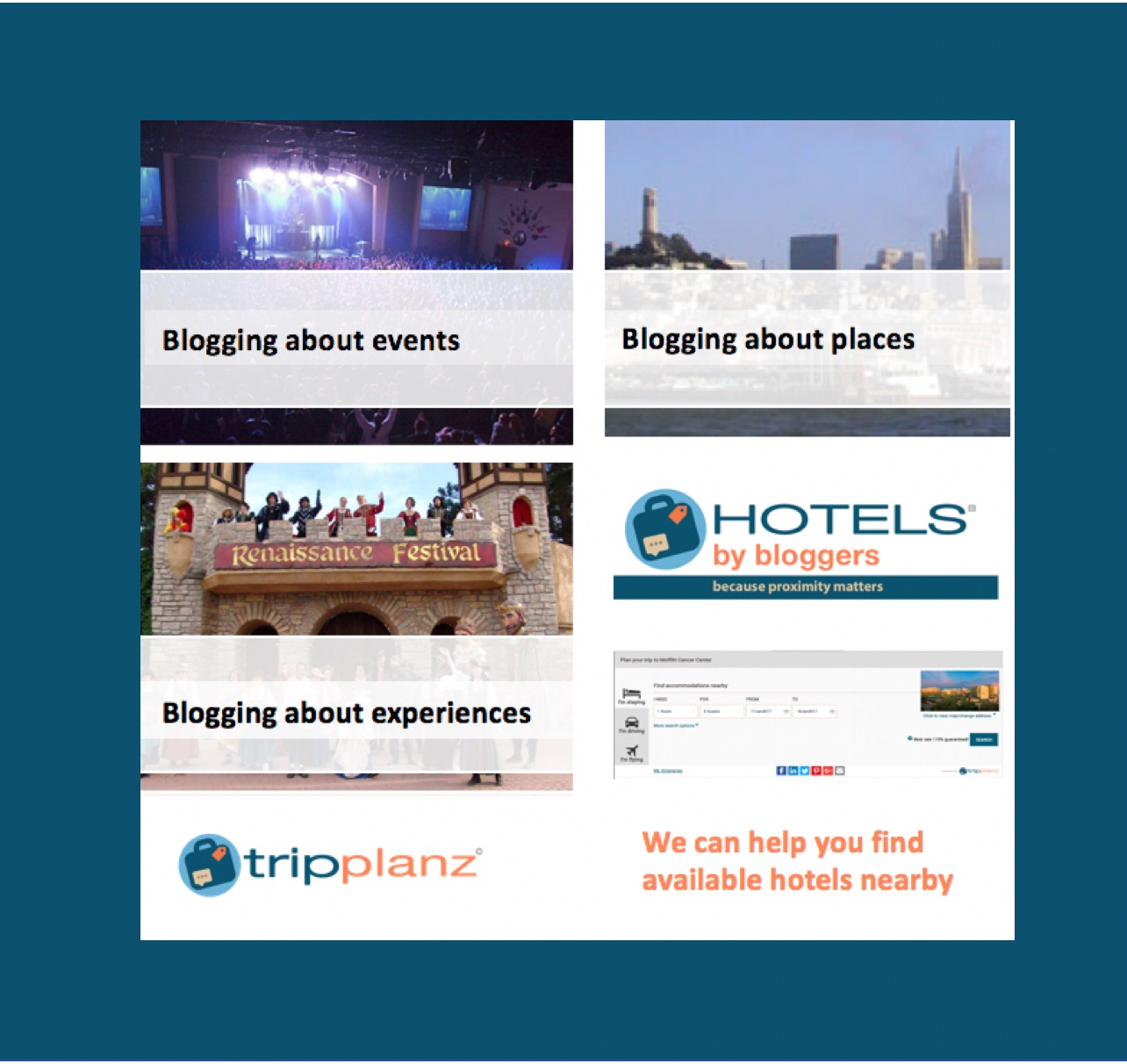 Finding hotels for bloggers