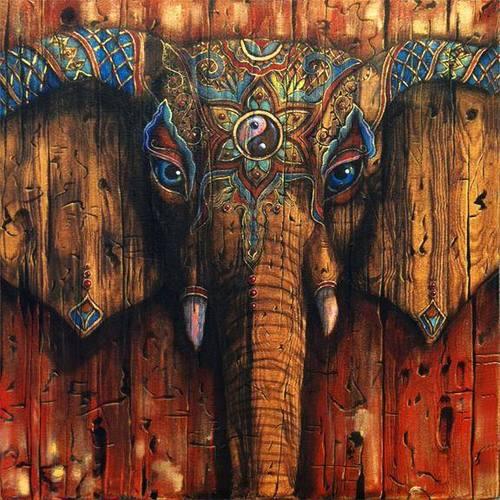Wooden-Elephant