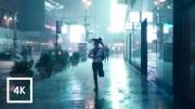 Thunderstorm at Night NYC (Binaural 3D Sounds) ASMR 4K