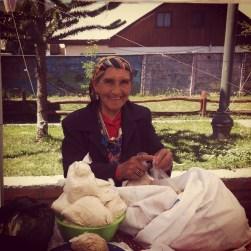 Mapuche woman in Chile