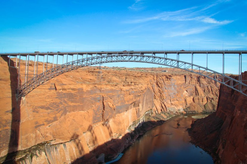 Glen Canyon Dam View of Colorado River