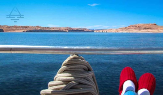 View of Lake Powell and Socks