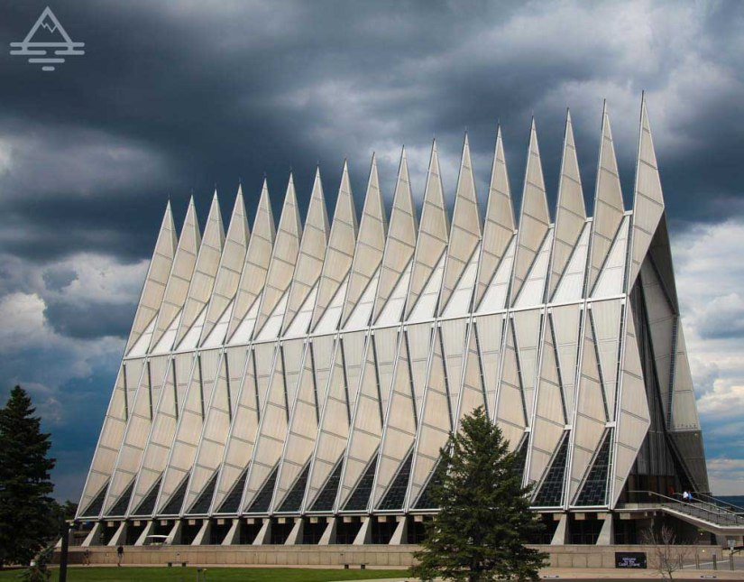 The Cadet Chapel at the US Air Force Academy in Colorado Springs.
