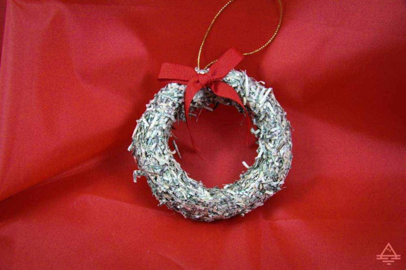Wreath ornament from the Bureau of Engraving and Printing
