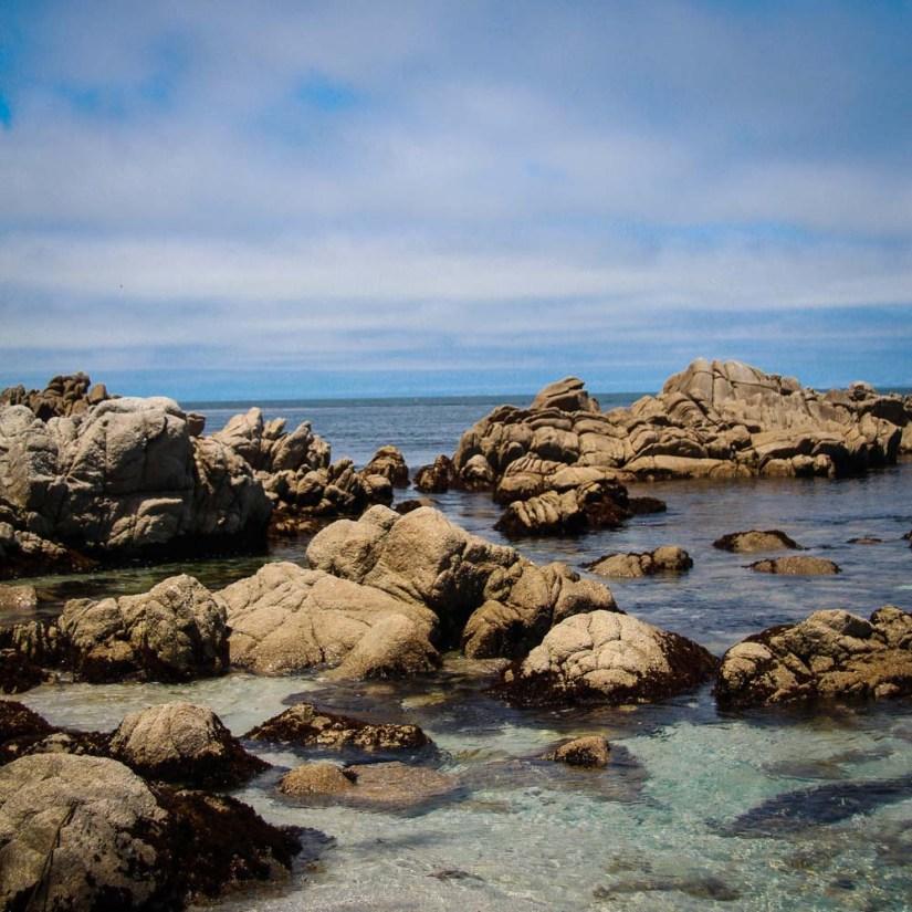 Rocky Shoreline at Monterey Bay in California