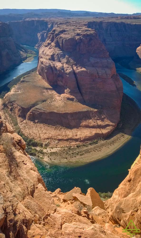 View of the Colorado River from Horseshoe Bend