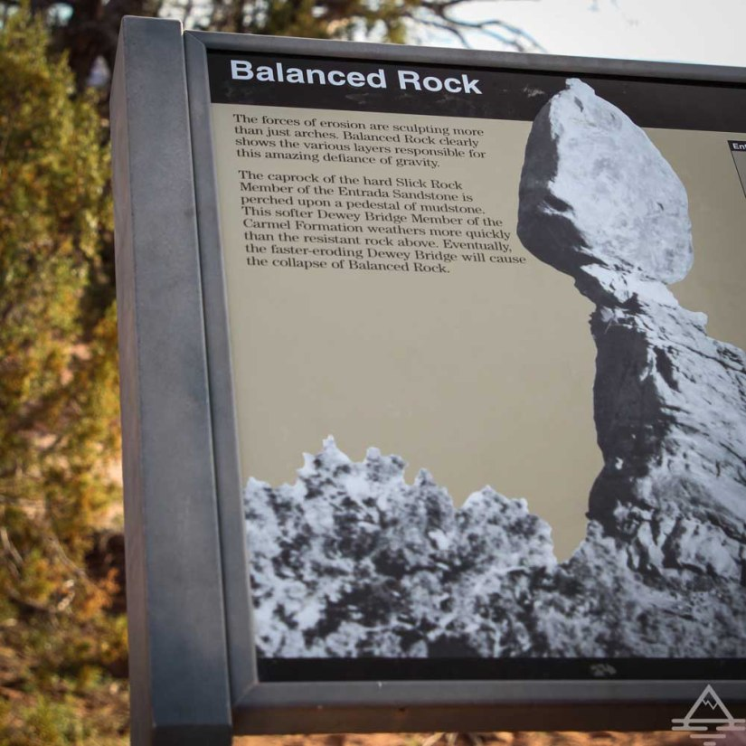 Balanced Rock Trailhead Sign