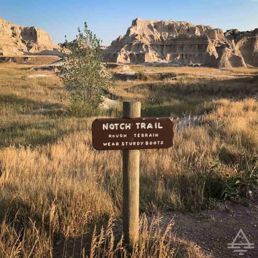 Badlands Notch Trail Sign