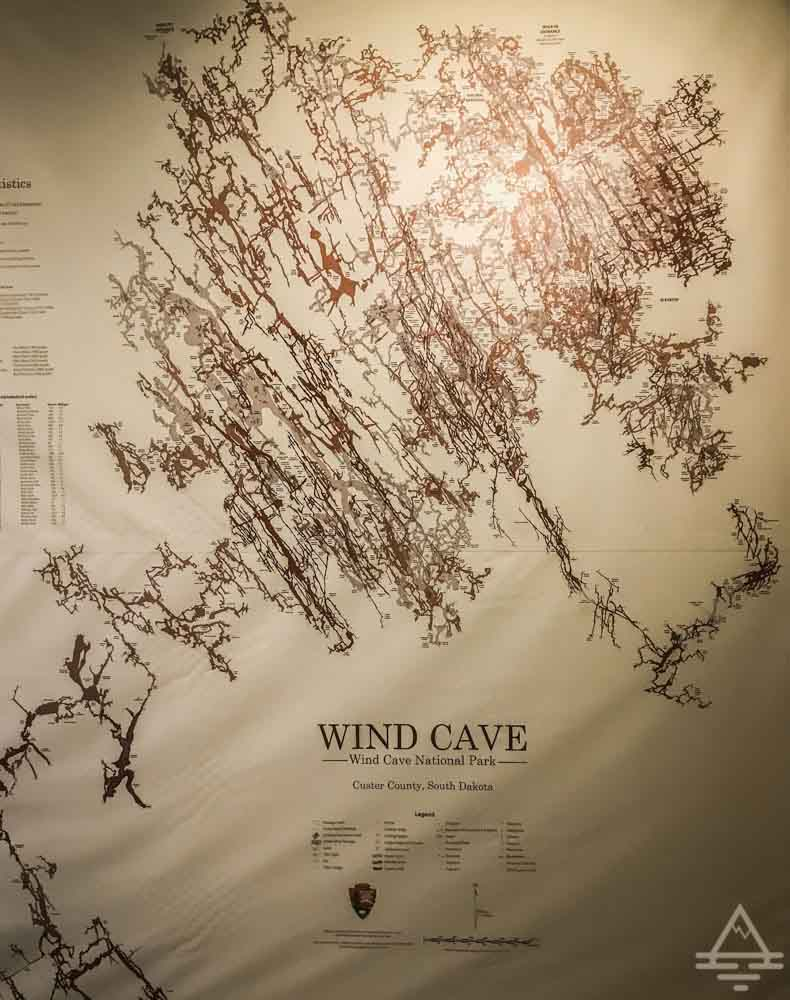 Map of Wind Cave National Park