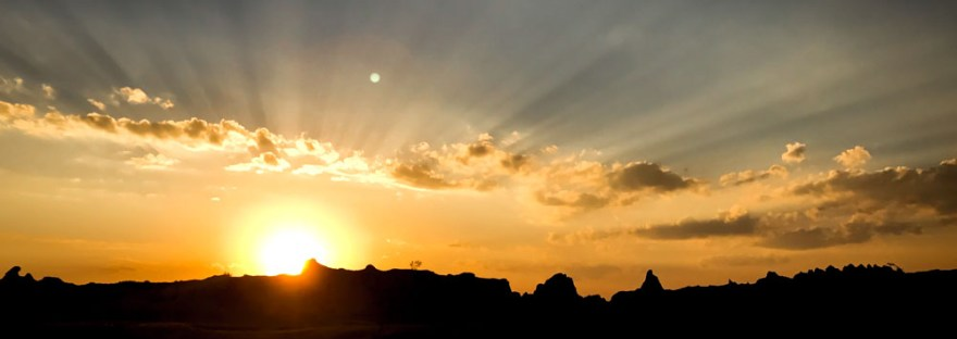 Sunset in Badlands Park
