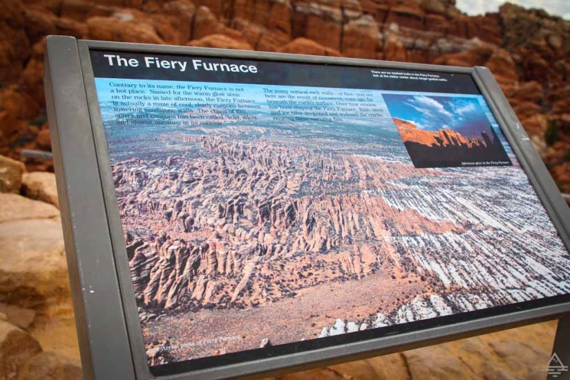 Arches Fiery Furnace Sign