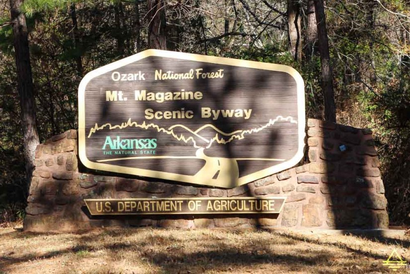 Mount Magazine State Park Scenic Byway Sign