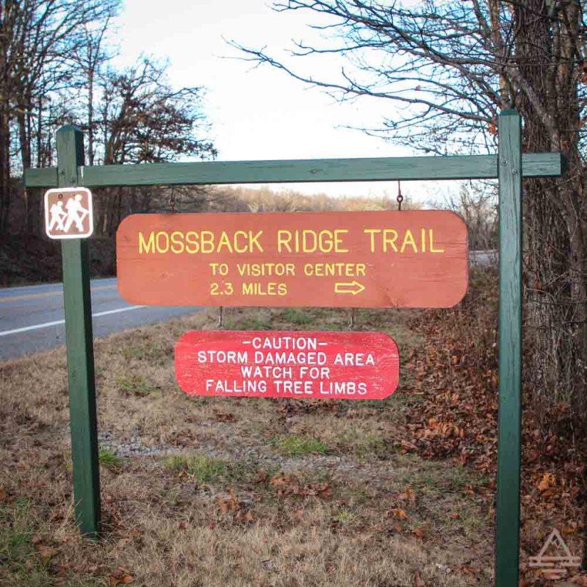 Mooseback Ridge Trail Sign