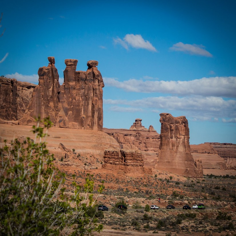 Arches National Park Scenic Drive-Three Gossips