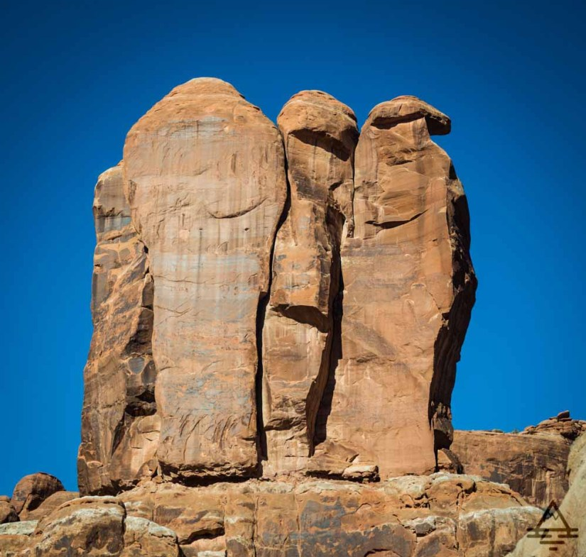 Arches National Park Scenic Drive-Three Penguins