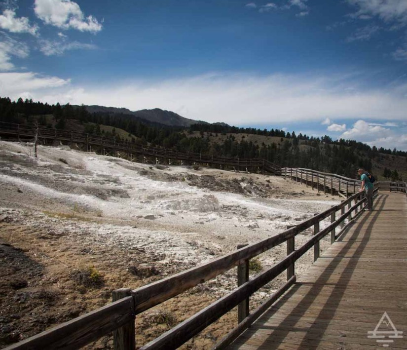 Mammoth Hot Springs Boardwalk in Yellowstone National Park
