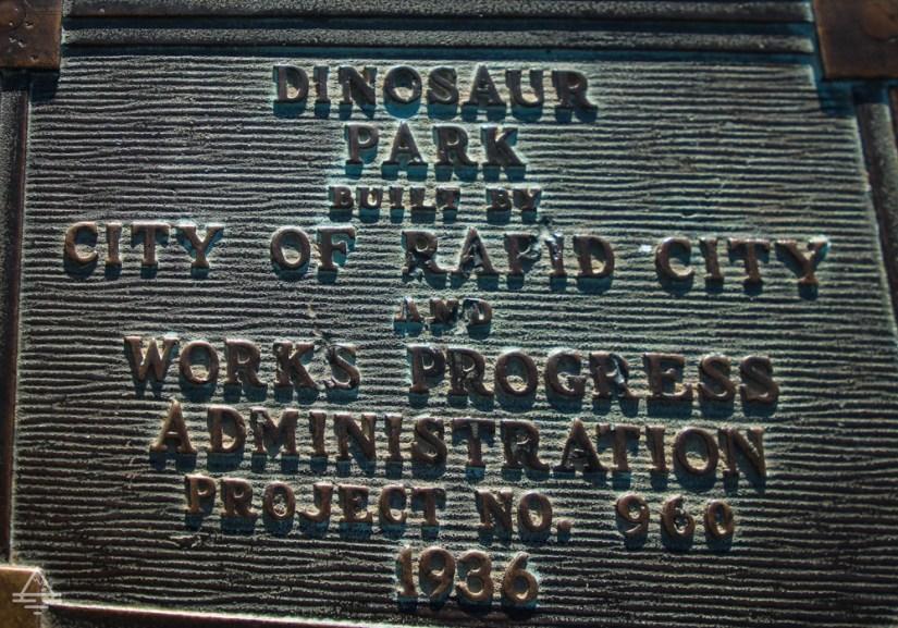 Rapid City Dinosaur Park Sign