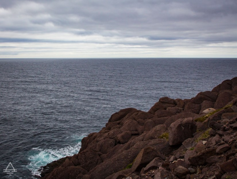 Newfoundland Cape Spear Cliff by Atlantic Ocean