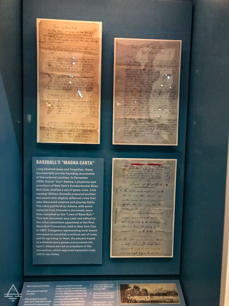 The baseball magna carta in the Baseball Americana exhibit