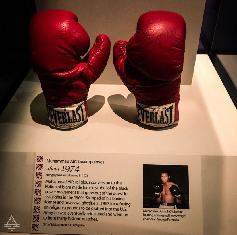 Muhammad Ali's Autographed Boxing Gloves from about 1974
