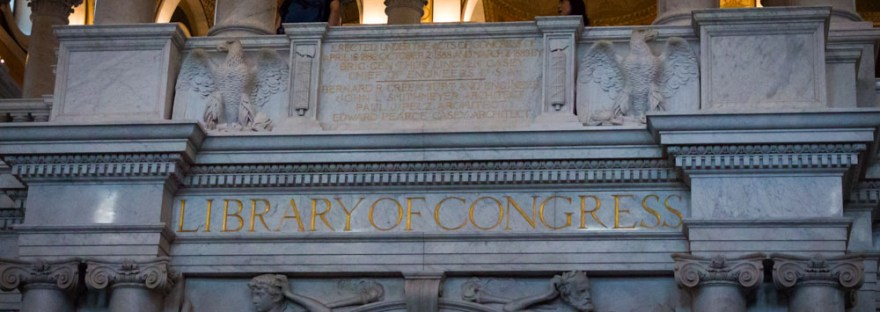 Library of Congress Engraved Sign