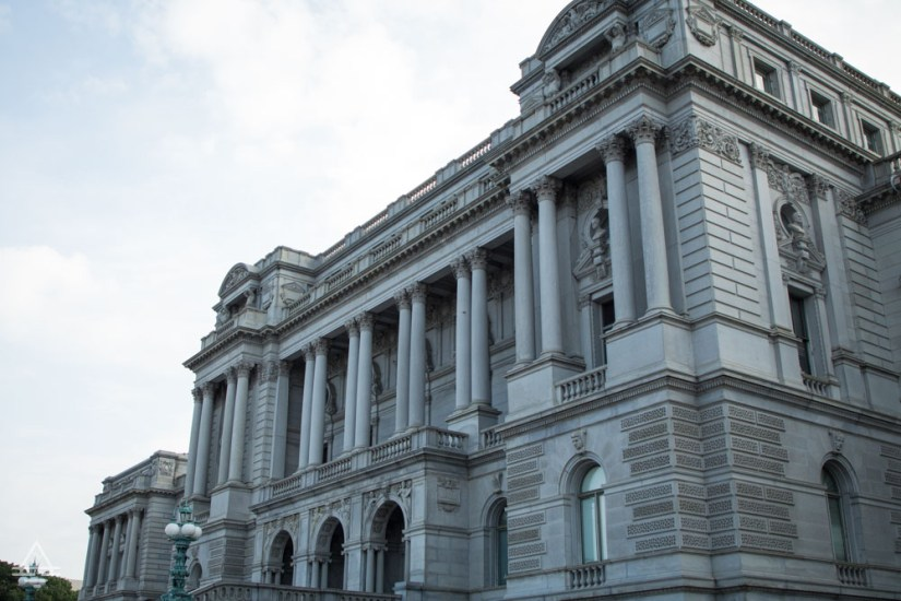 Front of the Library of Congress Jefferson Building